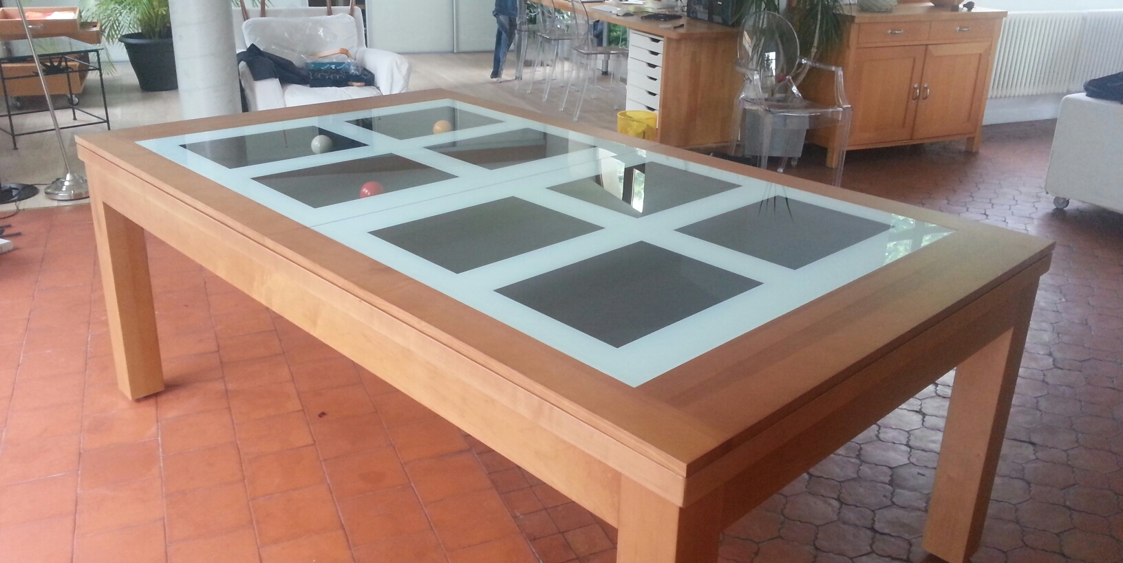 Billards br ton - Table de billard convertible table a manger ...